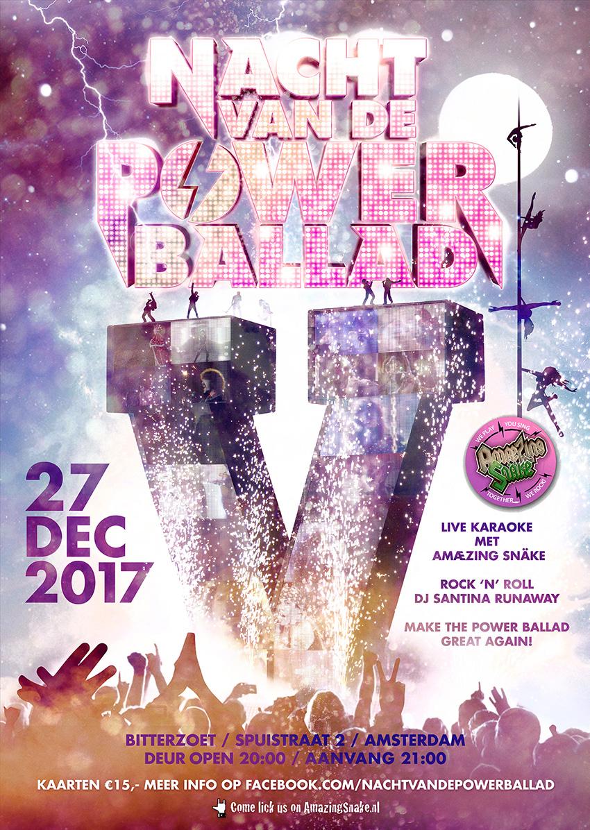 Nacht van de Powerballad poster 2017
