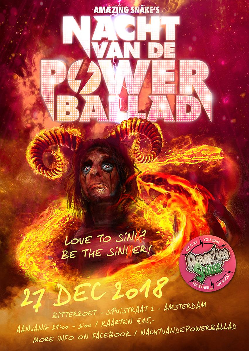 Nacht van de Powerballad poster 2018