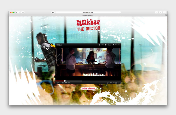 Milkbar website The Doctor