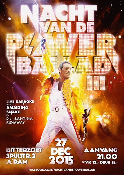 Nacht van de Powerballad poster 2015