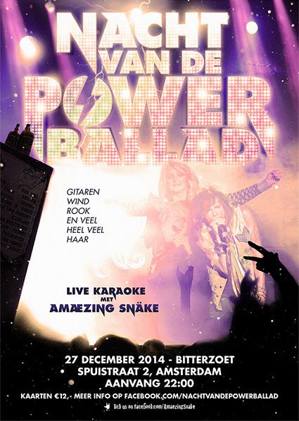 Nacht van de Powerballad poster 2014