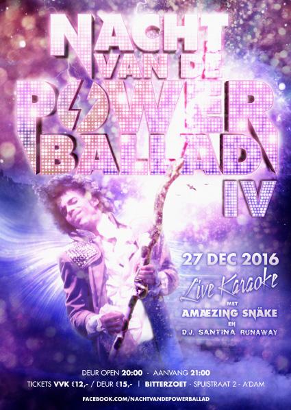 Nacht van de Powerballad poster 2016