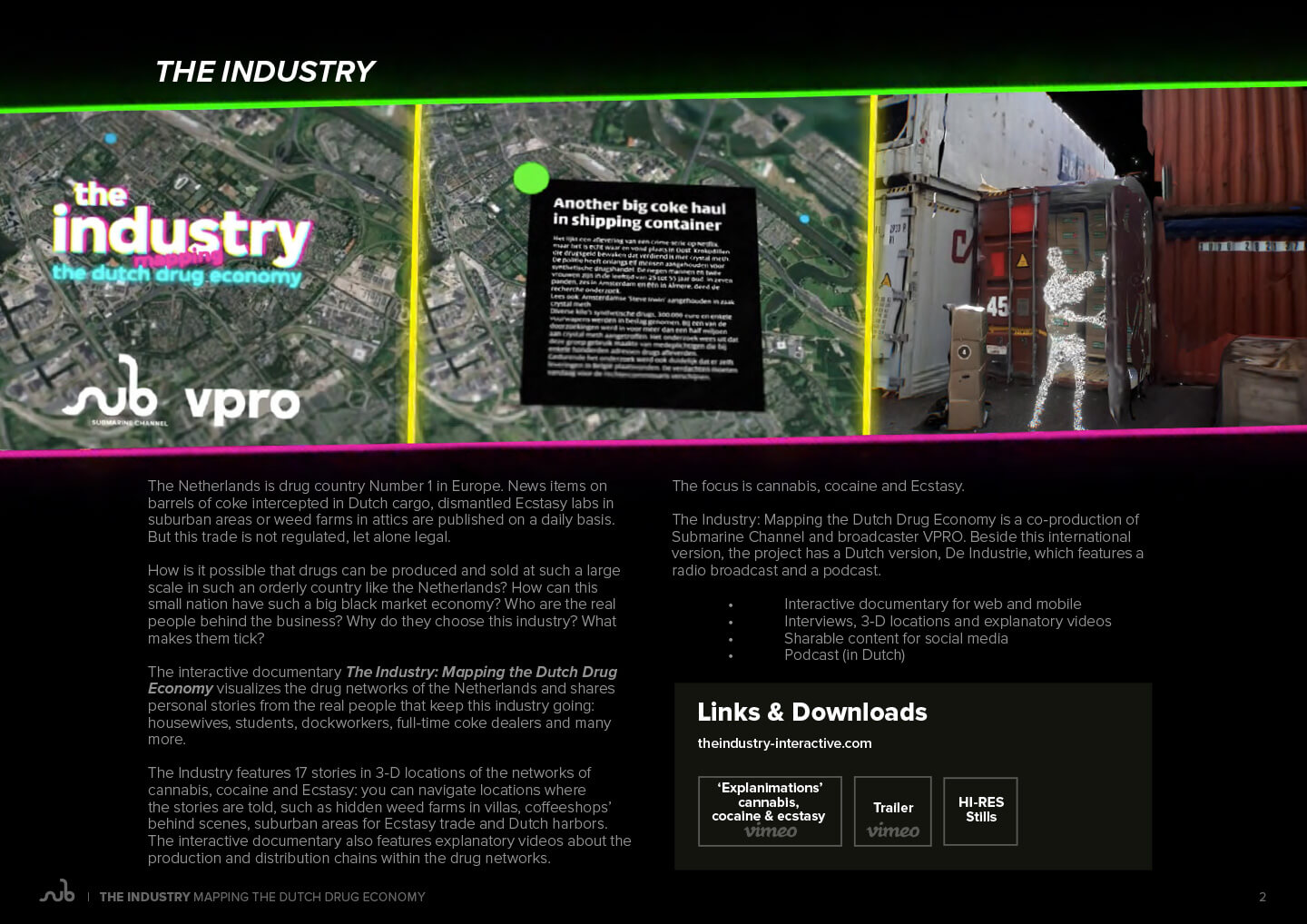 The Industry presskit